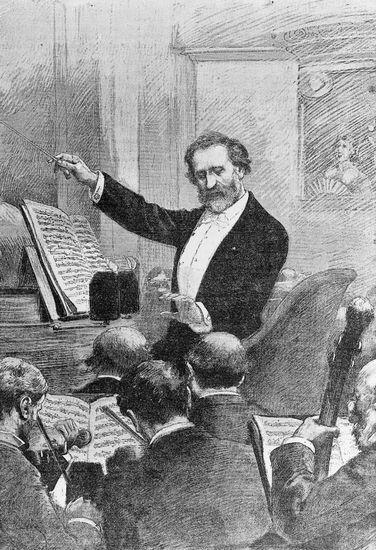 26. Giuseppe Verdi lors d'une représentation d'Aïda