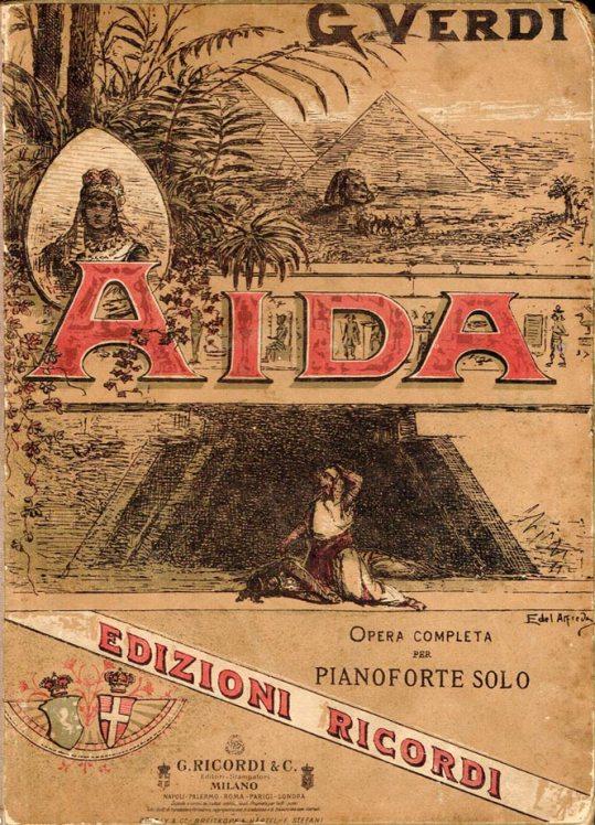34. Verdi Aida, page de garde de la partition Ricordi