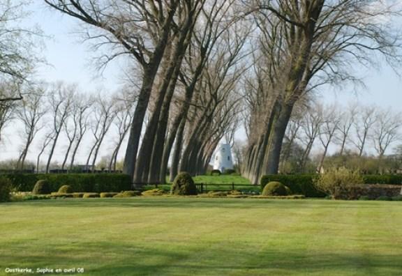 Les jardins du château d'Oostkerke entre Bruges et Zeebruge