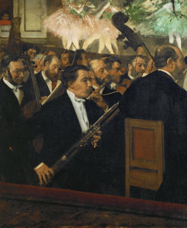 Edgar Degas (1834-1917), L'Orchestre de l'Opéra, vers 1870.