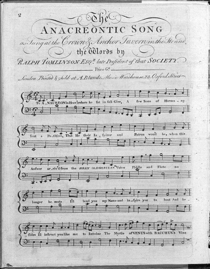 Hymne américain 2 Partition chanson