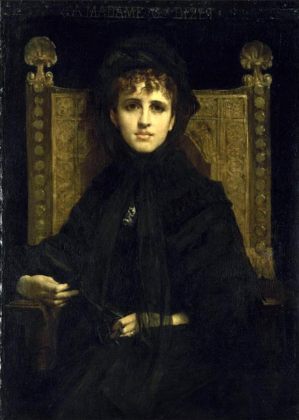 11. Geneviève Bizet Halévy épouse de Georges, painted in 1878 by Jules-Élie Delaunay