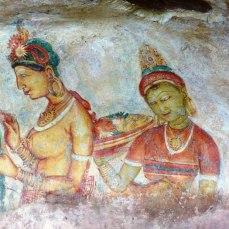 45. Peintures rupestres de déesses de Ceylan Rocher du Lion a 5ème S PCN