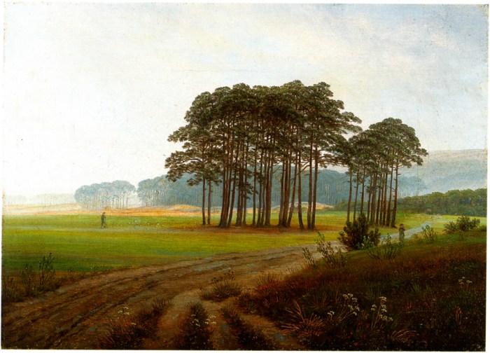 17a. Caspar David Friedrich, Au Mileu de la journée, 1822.