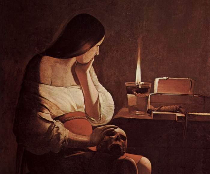 18a. Georges de La Tour, La Madeleine à la veilleuse