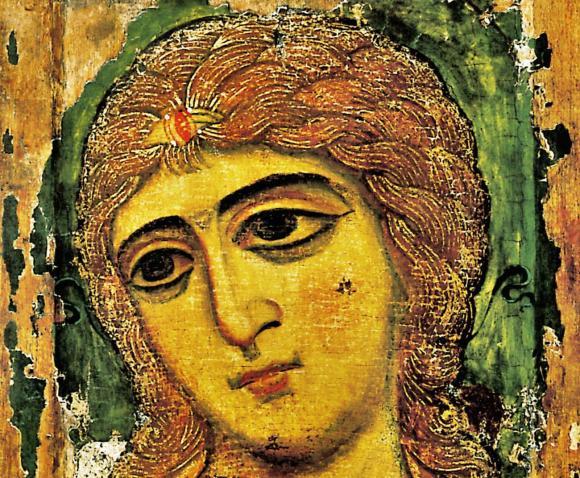 33a. Icône de Novgorod, L'ange aux cheveux d'or 12ème S