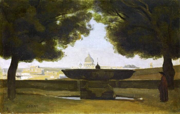34. Fontaine de l'Académie de France à Rome, Jean-Baptiste Camille Corot (1826-1828)