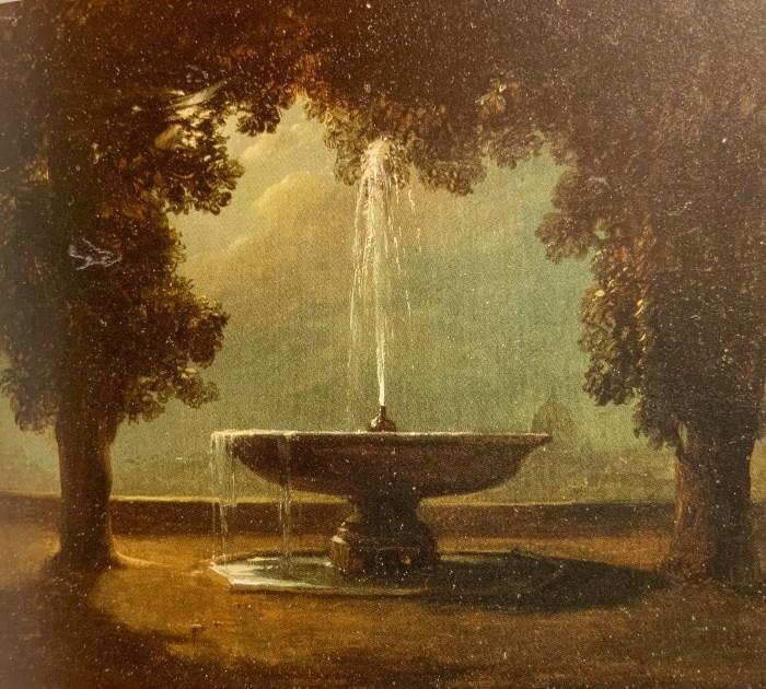 34. Léon Cogniet, La Vasque de la Villa Médicis à Rome, 1820.