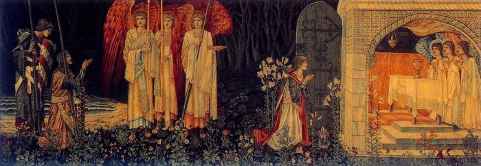 35a. Sir Edward Burne-Jones,, La Vision du Graal, 1895