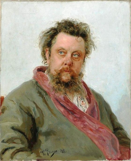 39d. Ilya Repine (1844-1930), Portrait de Modest Moussorgski, 1881