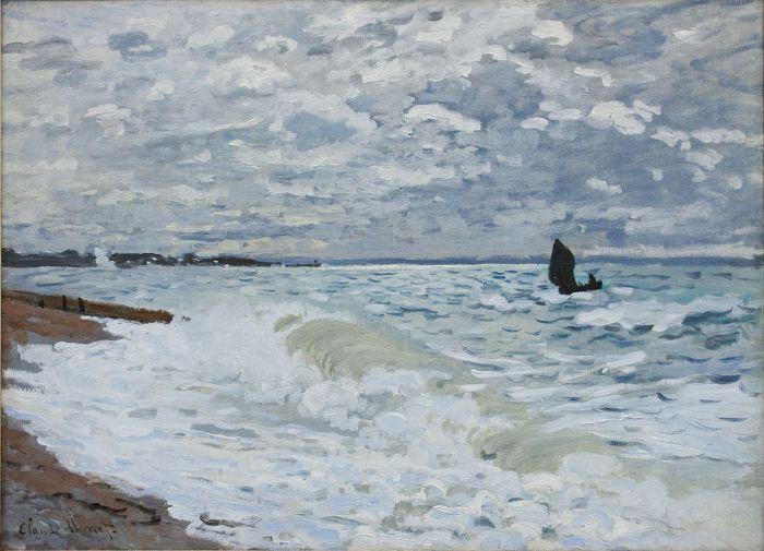 41a. Claude Monet, La Mer au Havre, 1868.