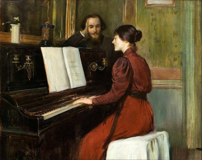 47d. Rusiñol, Una Romanza, 1894