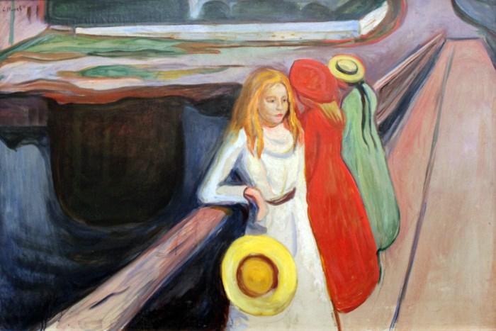 50a. Edvard Munch, Les Filles sur le pont (1901).