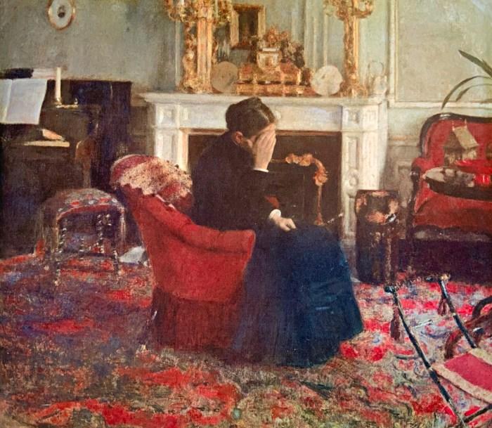 52a. Fernand Khnopff, En écoutant du Schumann, 1883