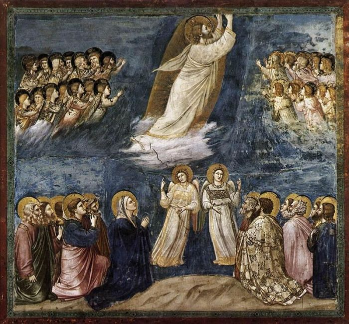 53a. Giotto di Bondone, L'Ascension du Christ, entre 1304 et 1306.