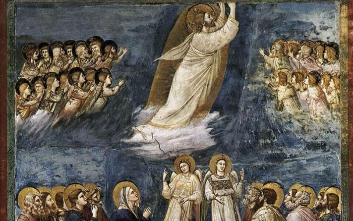 53ab. Giotto di Bondone, L'Ascension du Christ, entre 1304 et 1306.