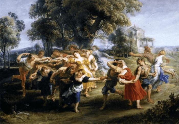 58a. Pierre-Pau Rubens, Danse de villageois italiens