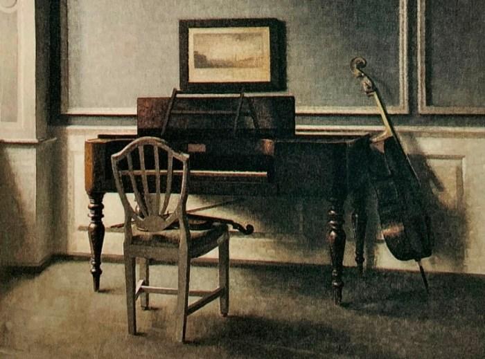60aa. Vilhelm Hammershoi, Chambre de musique 1907