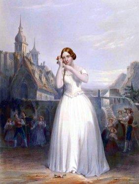 67e. Anonyme, La cantatrice Jenny Lind dans la scune An non credea.