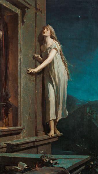 67f. Maximilian Pirner, La somnambule. Huile sur toile, 1878