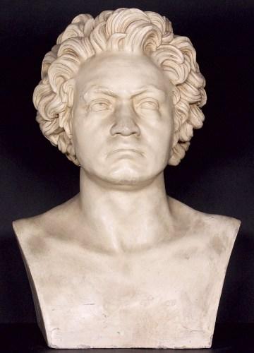 Danhauser, Joseph: Beethoven-Büste; Gips-Abguß des Exemplars L.A. Francke