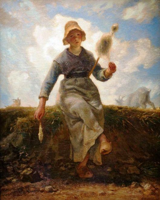 70ab. Jean-François Millet, La fileuse, chevrière auvergnate, 1869.