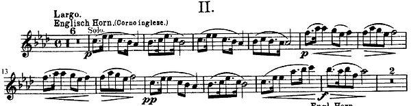 81e. Dvorak, Thème du Largo de la Symphonie du Nouveau Monde