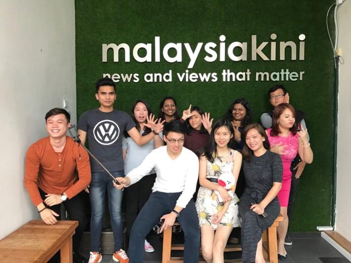 Juliette Li Xinrui and Zhang Hao went to Malaysiakini in Kuala Lumpur