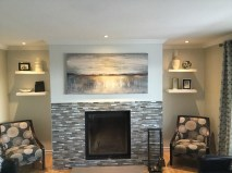 fireplace install after