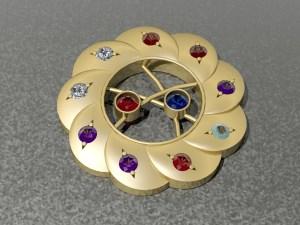 Multi Stoned Pin