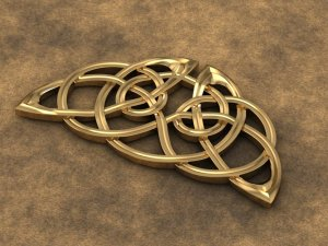 Celtic Circle Winged Pin
