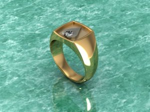 Gold Jewelled Graduation Style Ring
