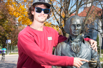 18. Take a Picture with a James Madison Statue