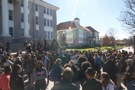 The crowd on the quad