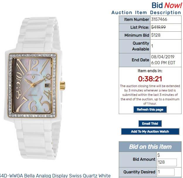 Online Auction Bidding