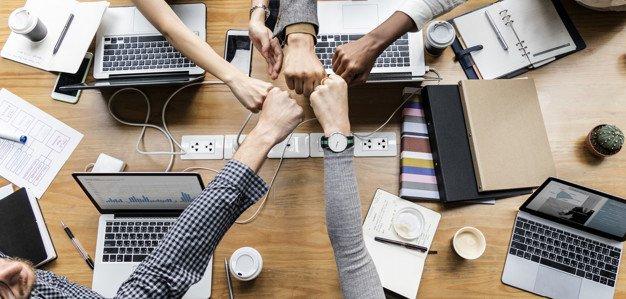 Startup Business Fist bump