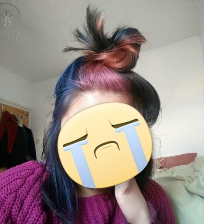 Multi- Coloured hair in natural light