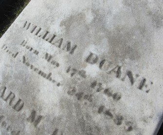 William Duane's gravesite at Laurel Hill Cemetery