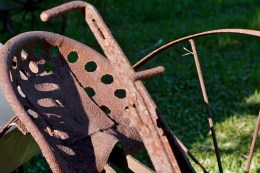 Seat of a horse drawn plow
