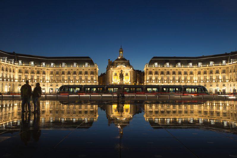 Reflets oniriques, place de la Bourse, Bordeaux