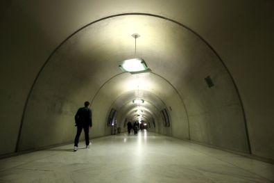 Perspective - Lone man walking