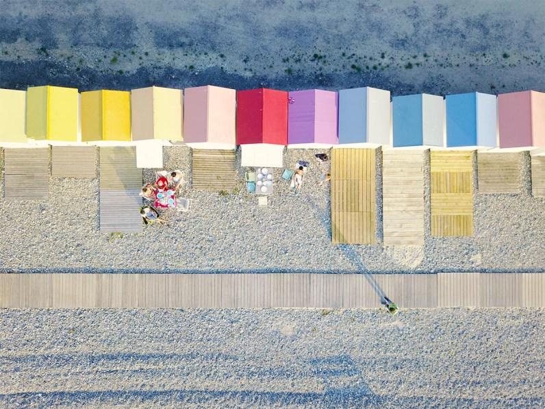 Normandie Mavic Pro - cabines de plage