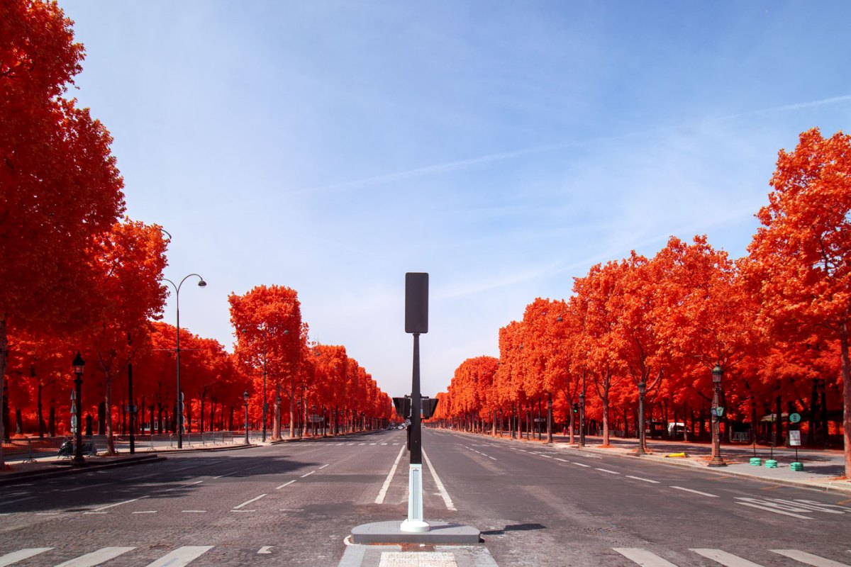 Paris vide - infrarouge - Jean-Nicolas Lehec