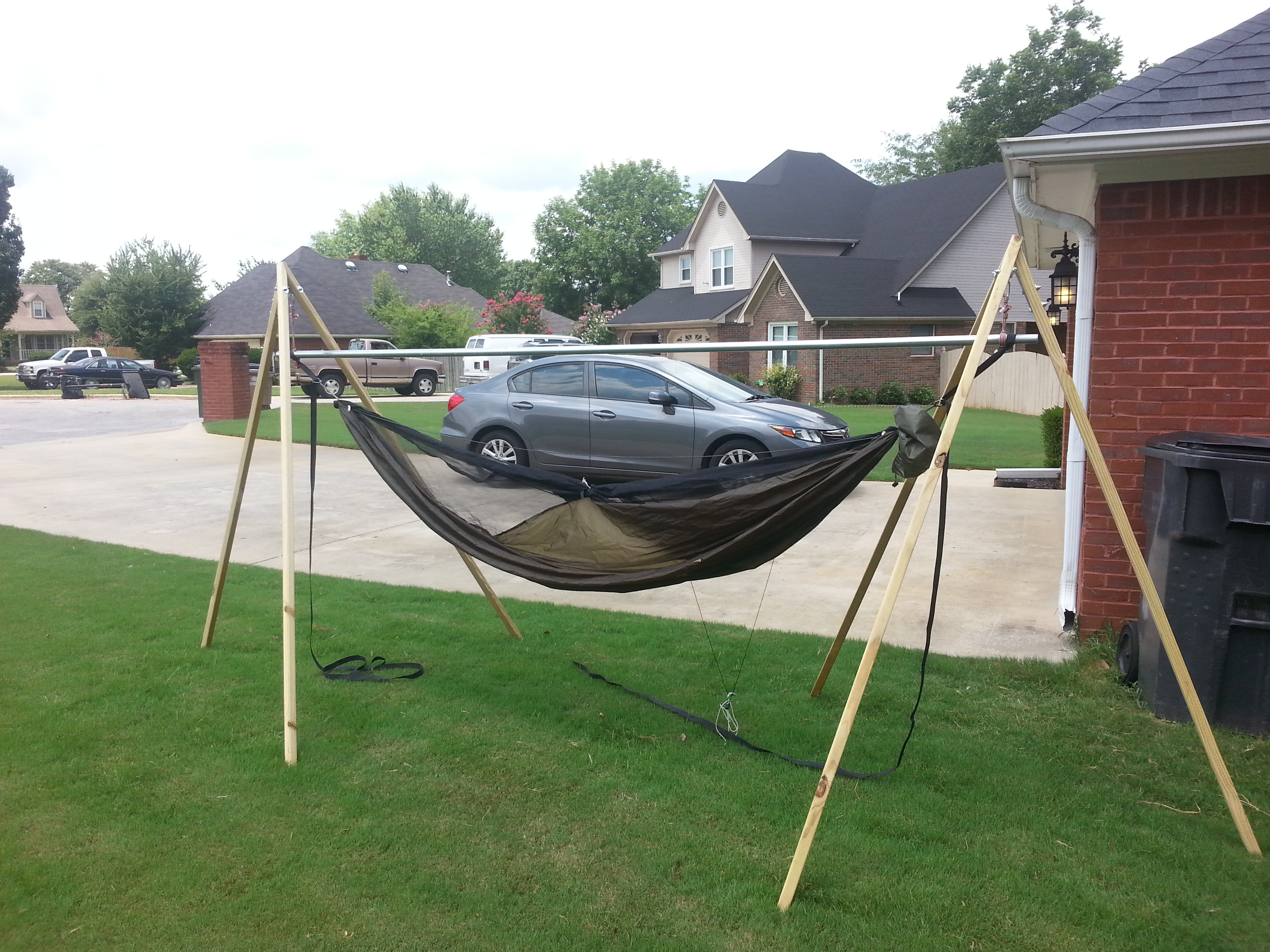My First Diy Do It Yourself Project A Hammock Stand
