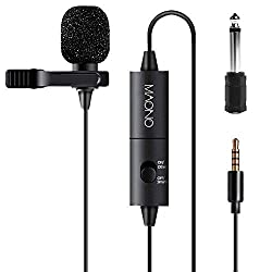 """""""Audio-Technica"""" and """"Blue Microphones"""" are both reputable companies with a wide variety of stock from cheap, accessible microphones to studio-grade ones.[2] Spending around $100 will net you a professional-sounding microphone. If you're working with a limited budget, consider opting for a cheaper microphone. Using a dedicated microphone can also minimize the amount of echoing and background noise in your video since your microphone usually sits much closer to your mouth than your camera. Consider purchasing a pop filter to place over your microphone in order to reduce audio feedback during the editing process."""