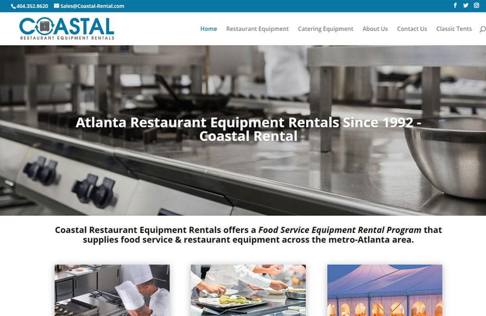 Coastal Restaurant - Website Design in Atlanta, GA