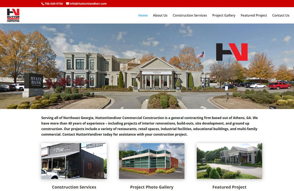 HuttonVandiver Website Design - Athens, GA