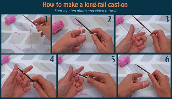 how to make a long tail cast on