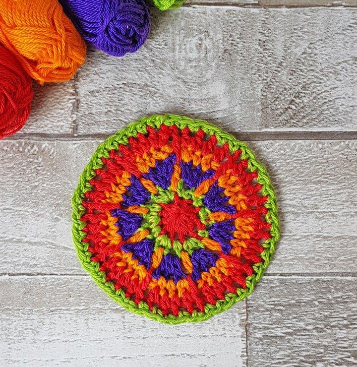 Mexican Sun Mandala Free Crochet Pattern Jo Creates