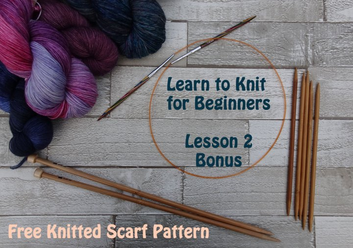 Free Scarf Pattern Learn To Knit For Beginners I Jo Creates